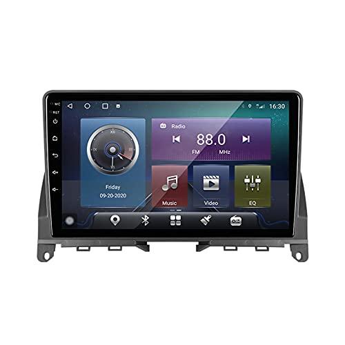 Buladala Android 11 Auto Audio Stereo GPS Navigatore con 9 Pollici Touch Screen per Mercedes Benz C Class 3 W204 S204 2006-2011, Supporto FM RDS DSP Radio/BT Steering Wheel Control/Carplay,M200s