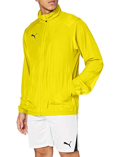 PUMA Liga Sideline Jacket Chaqueta De Entrenamiento, Hombre, Cyber Yellow-Puma Black, L