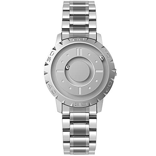 EUTOUR Reloj Analógico para Hombre y Mujer Reloj Magnético de Cuarzo Suizo Relojes de Pulsera Originales con Correa de Acero Inoxidable