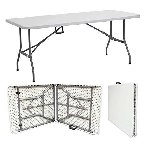 Denny Shop 4ft, 5ft & 6ft Camping Catering Heavy Duty Folding Trestle Table For BBQ Picnic Party by Crystals (6ft Folding Table)