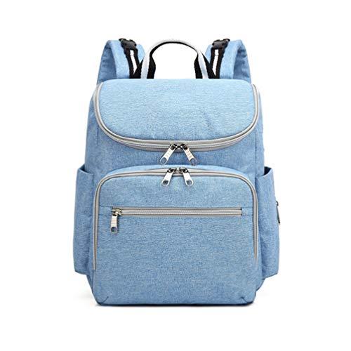 HQLCX Mummy Bags Sac à Couches de Maman Multifonctionnel Imperméable à l'eau de Voyage Sac à Dos Sacs à Couches pour Les Soins de Bébé, Grande Capacité, Elégant et Durable,Blue