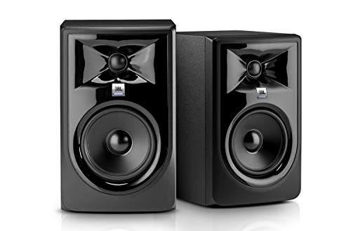 JBL Professional 308MKII 8-inch Powered Studio Monitors (Pair) 2-way 112W Powered Studio Reference Monitors with 8
