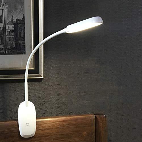 qwert Lámpara De Escritorio Clip Light,3 Brillo Regulable 3 Modos De Luz Lámpara De Lectura,Lámpara De Mesa Flexible Gooseneck para Aprendizaje Trabajo,5w,1800ma,Dimmer Switch