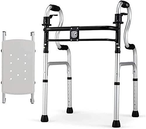 Rollator Walker Mobility Ayuda para caminar para adultos Ancianos Marco de caminata Estándar Walker Rollator Plegable Walker con asiento, marco de aluminio liviano para personas mayores, adultos, niño