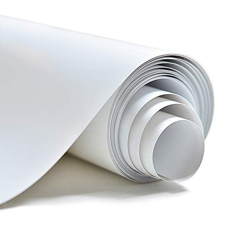 GraceM Vinyl HTV Heat Transfer Vinyl, 12in by 10ft roll,  easyweed iron on vinyl, works perfect with Cricut/Silhouette(white)