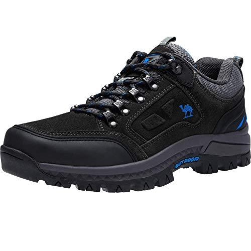CAMEL CROWN Wasserdichte Wanderschuhe Outdoor Trekking Schuhe Männer Sport Hiking Bergschuhe für Klettern Reisen Täglichen Gebrauch Trainer,Grau 2,45 EU