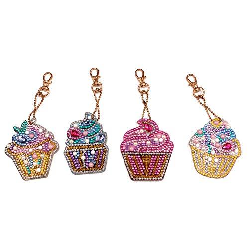 Women Bag Pendant, WISREMT 1 Set DIY Full Drill Special Diamond Painting Key Chain for Women Bag Pendant