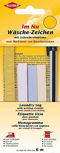 Kleiber - Juego de Plantillas para Poner el Nombre con rotulador, termoadhesivas, de Tela/plástico, con abecedario