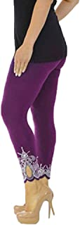 Aribally High Waist Out Pocket Printed Yoga Pants Tummy Control Workout Running