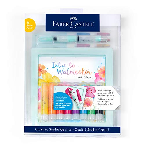 Faber-Castell Intro to Watercolor with Gelatos - Watercolor Kit for Beginners - Adult Craft Projects