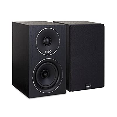TIBO Harmony 2 | Passive Hi-Fi Bookshelf Speakers | 100W | Black from TIBO