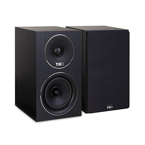 TIBO Harmony 2 | Passive Hi-Fi Bookshelf Speakers | 100W | Black