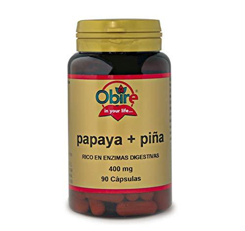 Papaya + piña 400 mg. 90 cápsulas