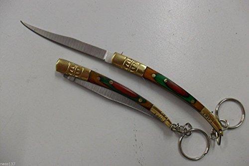 La Petite Caverne- Couteau de Poche Lame Fine Acier 8 cm Manche Bois 10 cm Style Canif