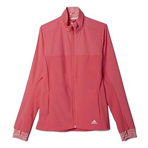 adidas SN STORM JKT W - Sudadera para mujer, color rosa / plata, talla L
