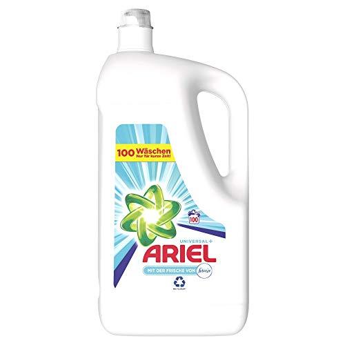 Ariel Waschmittel Flüssig, Flüssigwaschmittel, 100 Waschladungen, Universal Febreze Frische (5.5 L)