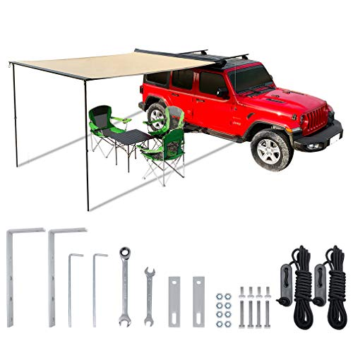 leaveshade Car Awning Heavy Duty Retractable SUV Rooftop Side Tent ● 2000x2500 mm 6