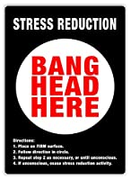 Stress Reduction BLACK 金属板ブリキ看板警告サイン注意サイン表示パネル情報サイン金属安全サイン