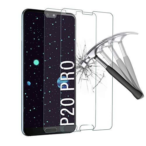 Shalwinn Schutzfolie für Huawei P20 Pro, [2 Stück] 9H Härte Panzerglasfolie, HD Klar Displayschutzfolie, [Anti-Fingerprint] [Anti-Kratzen] [Blasenfrei] [Bubble Free] Panzerglas folie