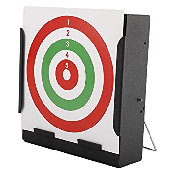 Metal Box BB Trap Target with 20 Shooting Paper Targets Airsoft Pellet Trap Catcher Mini BB Gun Target for Shooting Practice and Air Soft Gun Training  Red