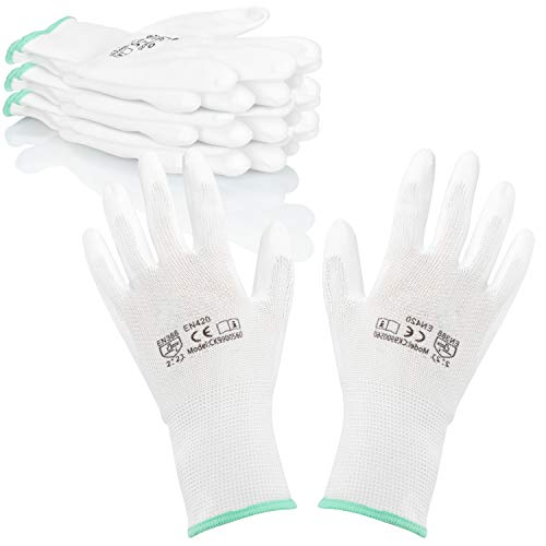 com-four® 4X Paar Schutzhandschuhe für Arbeit und Garten - Arbeitshandschuhe in Gr. M - Handschuhe nach DIN EN 338 für Maler, Mechaniker, Monteure und Heimwerker