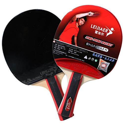 Great Price! CLISPEED Wood Table Tennis Paddle Professional Ping Pong Paddle Table Tennis Racket Ant...