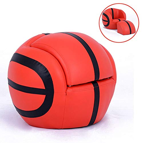 Axroad Mall Basketball Combined Folding Kinder Mini-Sofa-Stuhl,Premium Qualität Durable Robuste Nein Sharp Corner Schliessfach Leder Kinderstuhl Loungemöbel