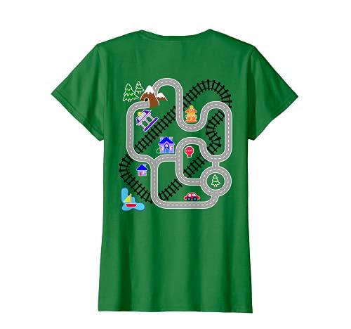 Damen Damen Geschenke für Mama, Auto & Zug Spielteppich Teppich Shirt, Spiele für Kinder