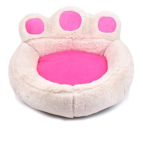 Zacht huisdier bed, hond kat ronde warme knuffel zachte puppy Bank, met ronde afneembare zachte kussen, anti-slip bodem, machine wasbaar XL Beige
