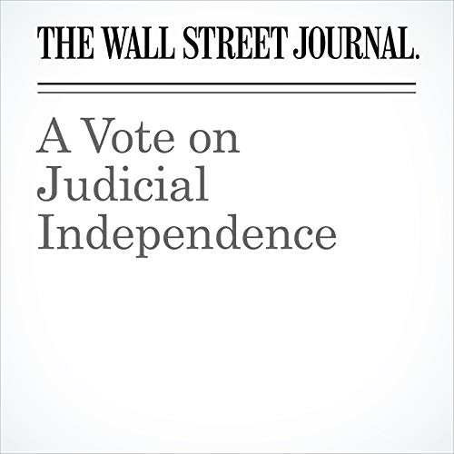 A Vote on Judicial Independence copertina