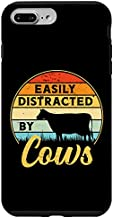iPhone 7 Plus/8 Plus Cow Easily Distracted Vintage Sunset Retro Style Dairy Farm Case