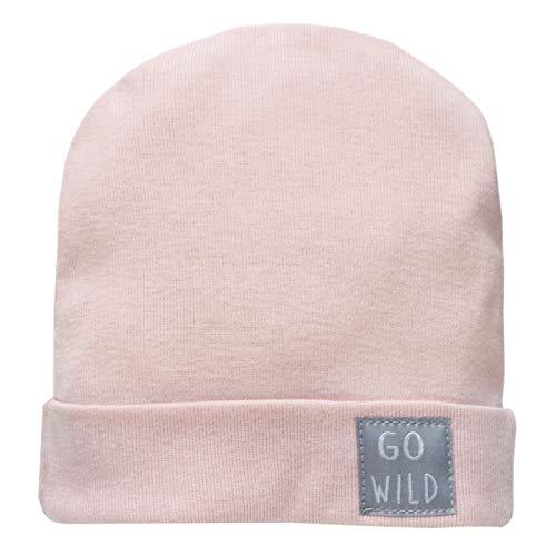 Pinokio - Wild Animal - Baby Mütze - Mädchen,Jungen - Rosa Blau,Grau Beanie aus 100% Baumwolle- Neugeborenenmütze Trend Unisex, sehr leicht Größe 56,62,68 (68, Rosa)