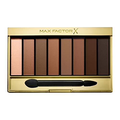 Max Factor Masterpiece Nude Palette Matte Sands 08 – Lidschatten-Palette mit 8 bräunlichen Tönen mit seidig-mattem und schimmerndem Finish