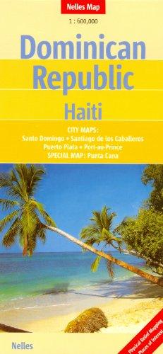 República Dominicana - Haití 1:600 K Nelles Mapa de viaje