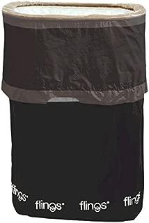 amscan Black Flings Pop-Up Trash Bin