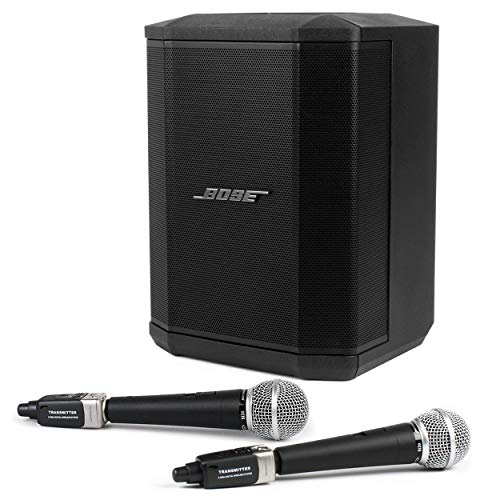 Pro Acoustics Handpicked Bluetooth PA System Bundle with Bose S1 Pro Multi-Position Speaker, Pure Resonance Audio UC1S Vocal Microphones and Digital Wireless Plug-On System (5 Items)