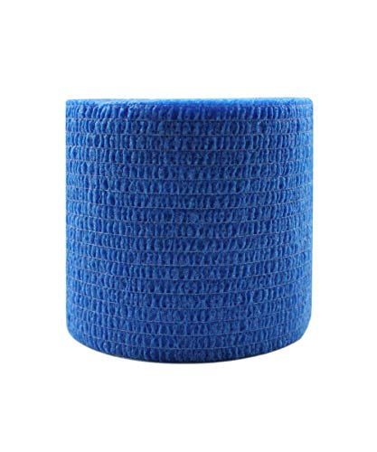 Risscly blu 5cm benda elastica coesiva adesivi salvapelle sport benda adesiva nastri per fasciature benda elastica adesiva 6 rotoli