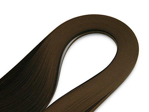WEBandBUY Quilling Papierstreifen 120 Stück 390mm lang 3mm breit Braun
