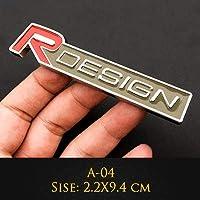 瑛太-健太郎 車3Dメタル辞書T5 T6 emblemiバッジグリルステッカーXAカースタイリング XC90 S60 S80 S80 S40 XC70 V60 XC40 V90 (Colore : A 04)