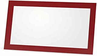 Burgundy Place Cards - Flat or Tent Style - 10 or 50 Pack - White Blank Front Solid Border - Placement Table Name Dinner Seat - Stationery Party Supplies - Any Occasion Event Holiday (50, Flat Style)