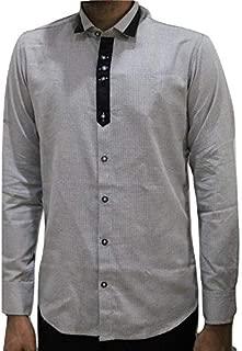 VASTAN Creations Men's Silver Slim Fit Slim Fit Casual Designer Shirt