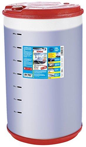 SONAX AntiFrost&KlarSicht Konzentrat (200 Liter) ergibt bis zu 600 Liter Winter-Scheibenwaschwasser, sofort mischbereit, schlierenfrei, Antikalk-Effekt | Art-Nr. 03329050