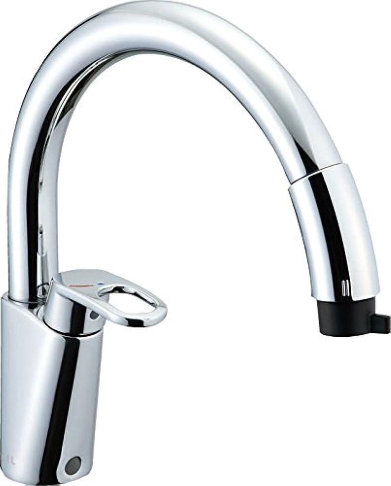 打倒拡張ヒットLIXIL(リクシル) INAX キッチン用水栓金具 吐水口引出式 ハンドシャワー付シングルレバー混合水栓 グースネック(エコハンドル) 呼び径13mm 吐水口長さ239mm SF-HM451SYXU