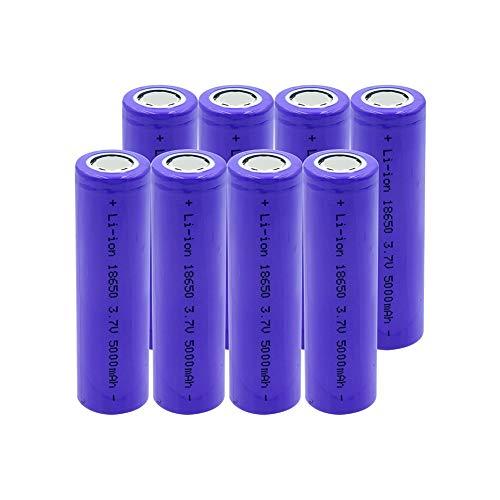 RitzyRose 18350 3,7 V 1500 mAh 10 A batería de ion de litio, pilas recargables para micrófono, radio de linterna, 8 unidades