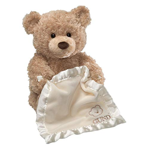 "GUND Peek-A-Boo Teddy Bear Animated Stuffed Animal Plush, 11.5"", Multicolor"