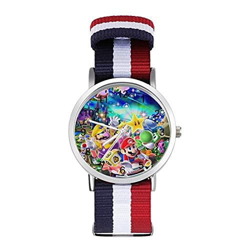 Game Cartoon Super Mario - Reloj de ocio para adultos de moda, hermoso y personalizado de aleación de Shell casual deportivo para hombres y mujeres