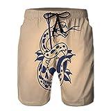 LJKHas232 Pantalones Cortos de Playa con Estampado para Hombre Cofre de natación Cráneo de Serpiente de Secado rápido Flecha Perforada tradit XXL
