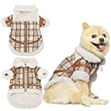 KOOLTAIL Dog Winter Coat Plaid Lamb Wool Soft Warm Dog Jacket Windproof Cold Weather Dog Clothes Pet Apparel for Small Medium Dogs