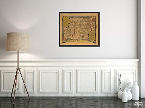 Map: Wabash College - Crawfordsville Indiana 1928 | Vintage Fine Art Reproduction | Size: 20x24