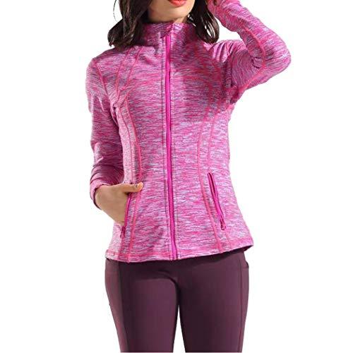 qualidyne Women's Yoga Jackets Run Jacket Workout Fitness Full Zip Up Track Running Jackets Winter Sports Wear